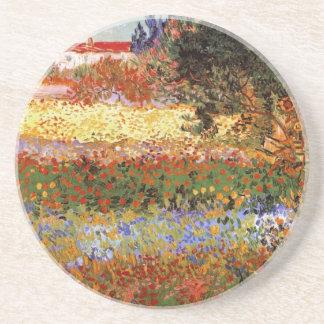 Bella arte del jardín floreciente de Van Gogh Posavasos De Arenisca