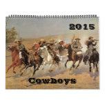 Bella arte del oeste americana 2015 de los calendario