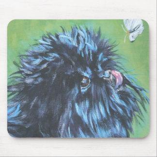 Bella arte del perro del Affenpinscher Tapete De Ratón