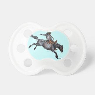 Bella arte del vaquero del rodeo chupetes de bebé
