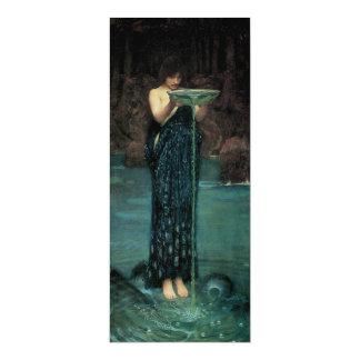 """Bella arte del Victorian, Circe Invidiosa por el Invitación 4"""" X 9.25"""""""
