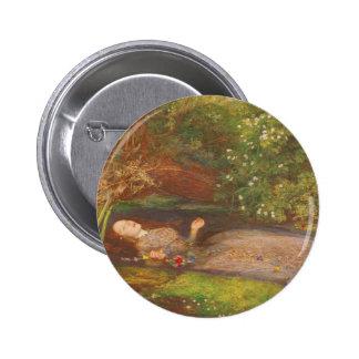 Bella arte del Victorian del vintage, Ofelia por Pin Redondo 5 Cm
