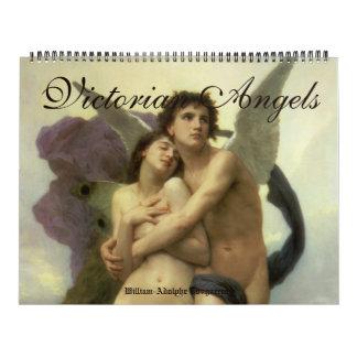 Bella arte del vintage, ángeles de la era del calendarios de pared
