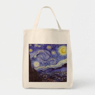 Bella arte del vintage de la noche estrellada de bolsa tela para la compra