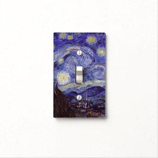 Bella arte del vintage de la noche estrellada de cubiertas para interruptor