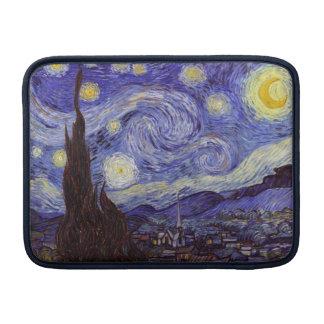 Bella arte del vintage de la noche estrellada de funda  MacBook