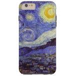 Bella arte del vintage de la noche estrellada de funda resistente iPhone 6 plus