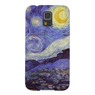 Bella arte del vintage de la noche estrellada de fundas de galaxy s5