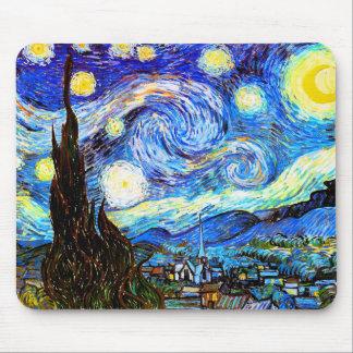 Bella arte del vintage de la noche estrellada de V Alfombrilla De Raton