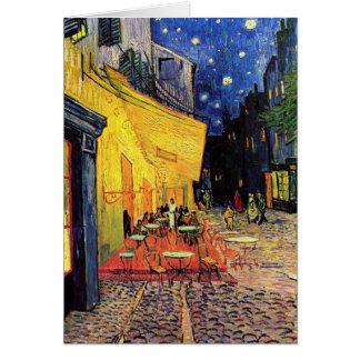 Bella arte del vintage de la terraza del café de V Felicitaciones