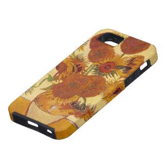 Bella arte del vintage de los girasoles de Van Gog iPhone 5 Protector
