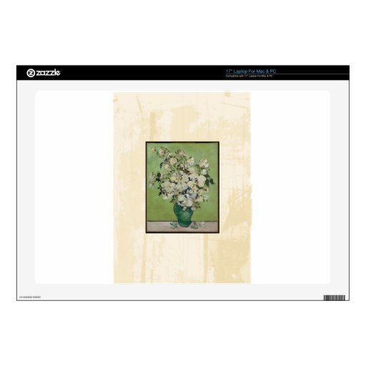 Bella arte del vintage de los rosas de Van Gogh Portátil Skins