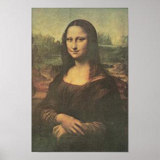 Bella arte del vintage de Mona Lisa Poster