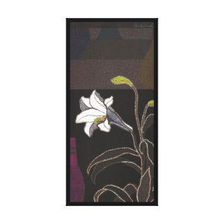 Bella arte del vintage del ukiyo-e de los lirios d lienzo envuelto para galerias