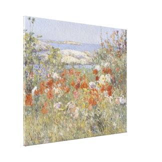 Bella arte del vintage, el jardín de Celia Thaxter Impresiones De Lienzo