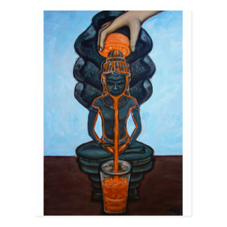 Bella arte del zumo de naranja de Buda Tarjeta Postal