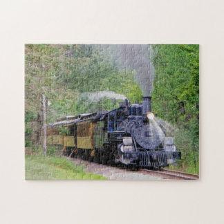 Bella arte ferroviaria del motor de vapor para los puzzle