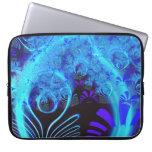 Bella arte floral azul abstracta linda del modelo  fundas ordendadores