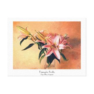 Bella arte floral clásica de la pintura del centro impresion de lienzo