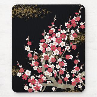 Bella arte floral de las flores de cerezo alfombrillas de ratón