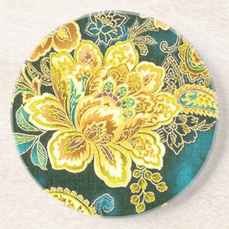Bella arte floral de Paisley del vintage del oro d Posavaso Para Bebida