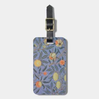 Bella arte floral del vintage de la granada de etiquetas para equipaje