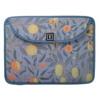 Bella arte floral del vintage de la granada de fundas macbook pro