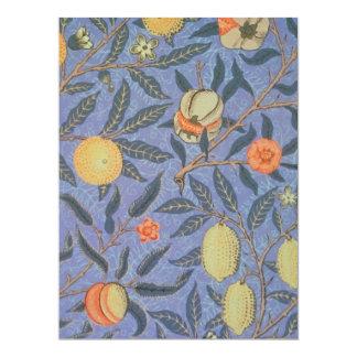 Bella arte floral del vintage de la granada de invitación 16,5 x 22,2 cm
