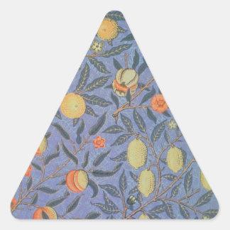 Bella arte floral del vintage de la granada de pegatina triangular