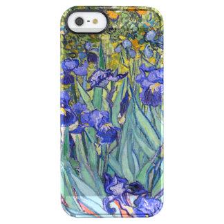 Bella arte floral del vintage de los iris de funda clearly™ deflector para iPhone 5 de uncommon