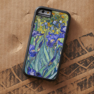 Bella arte floral del vintage de los iris de funda tough xtreme iPhone 6