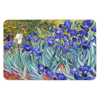 Bella arte floral del vintage de los iris de iman de vinilo