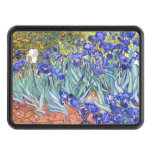 Bella arte floral del vintage de los iris de tapa de remolque