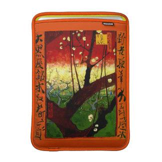 Bella arte floreciente de Van Gogh del árbol de Funda MacBook