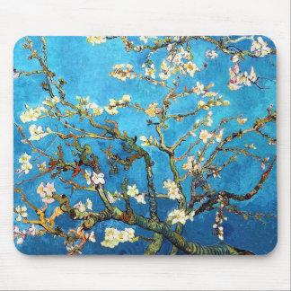Bella arte floreciente de Van Gogh del árbol de Mouse Pads