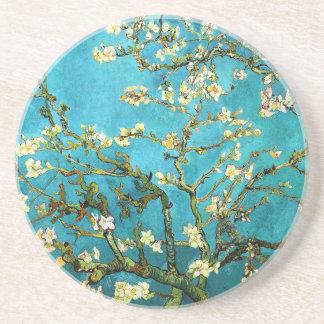 Bella arte floreciente de Van Gogh del árbol de Posavaso Para Bebida
