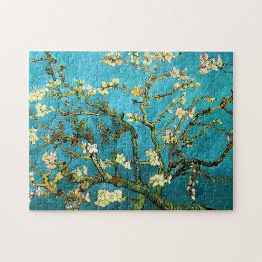 Bella arte floreciente de Van Gogh del árbol de Rompecabezas