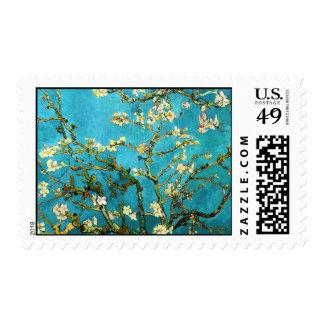 Bella arte floreciente de Van Gogh del árbol de Sello Postal