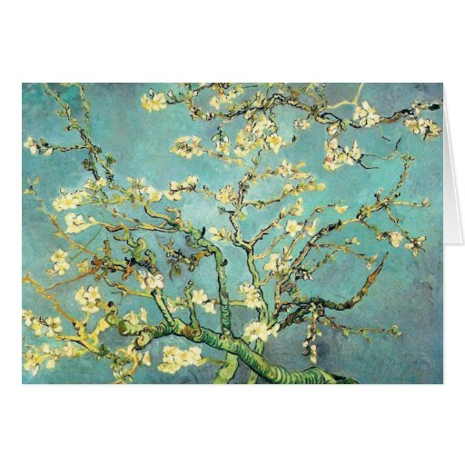 Bella arte floreciente de Van Gogh del árbol de Tarjeta Pequeña