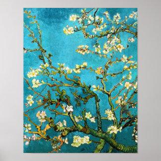 Bella arte floreciente del árbol de almendra de