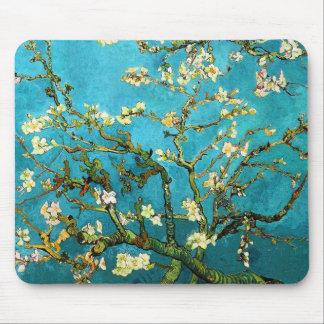 Bella arte floreciente del árbol de almendra de alfombrilla de ratones