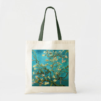 Bella arte floreciente del árbol de almendra de bolsa tela barata