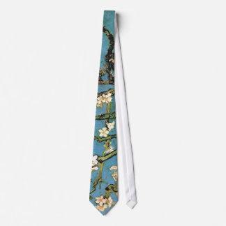 Bella arte floreciente del árbol de almendra de corbatas personalizadas