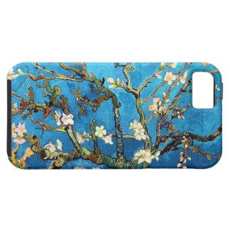 Bella arte floreciente del árbol de almendra de funda para iPhone SE/5/5s