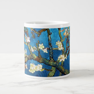 Bella arte floreciente del árbol de almendra de taza grande
