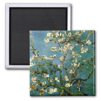 Bella arte floreciente del árbol de almendra de Va Imán De Frigorifico