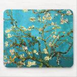 Bella arte floreciente del árbol de almendra de Va Alfombrillas De Raton