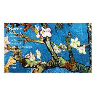Bella arte floreciente del árbol de almendra de Va Tarjeta De Visita