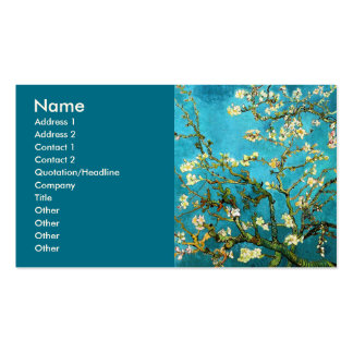 Bella arte floreciente del árbol de almendra de Va Plantilla De Tarjeta Personal