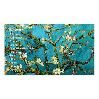 Bella arte floreciente del árbol de almendra de Va Plantilla De Tarjeta De Negocio